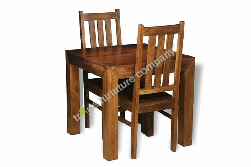 Dakota Dark Small Table & 2 Dakota Chairs