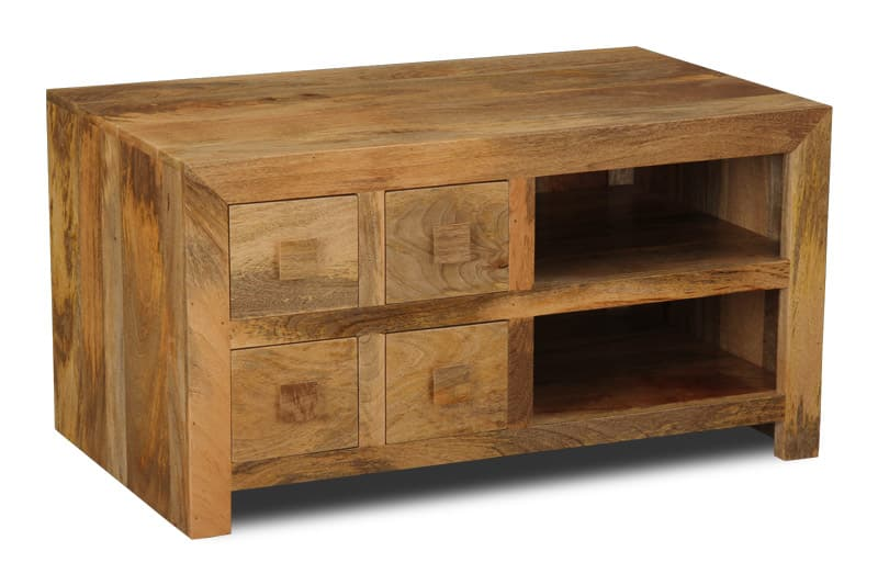 Light Dakota 4 Drawer TV Unit