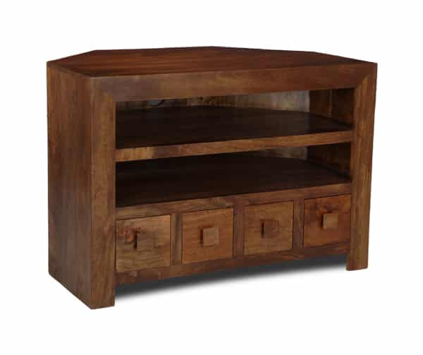 Dakota 4 Drawer Corner TV Unit