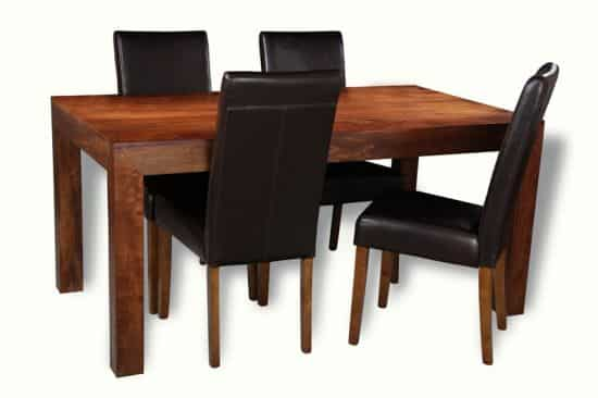 160cm table with 4 barcelona chairs