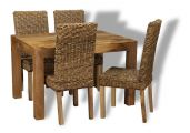 120cm table with 4 rattan chairs