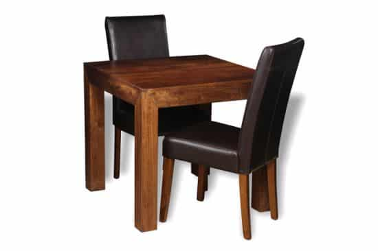 small table with 2 barcelona chairs